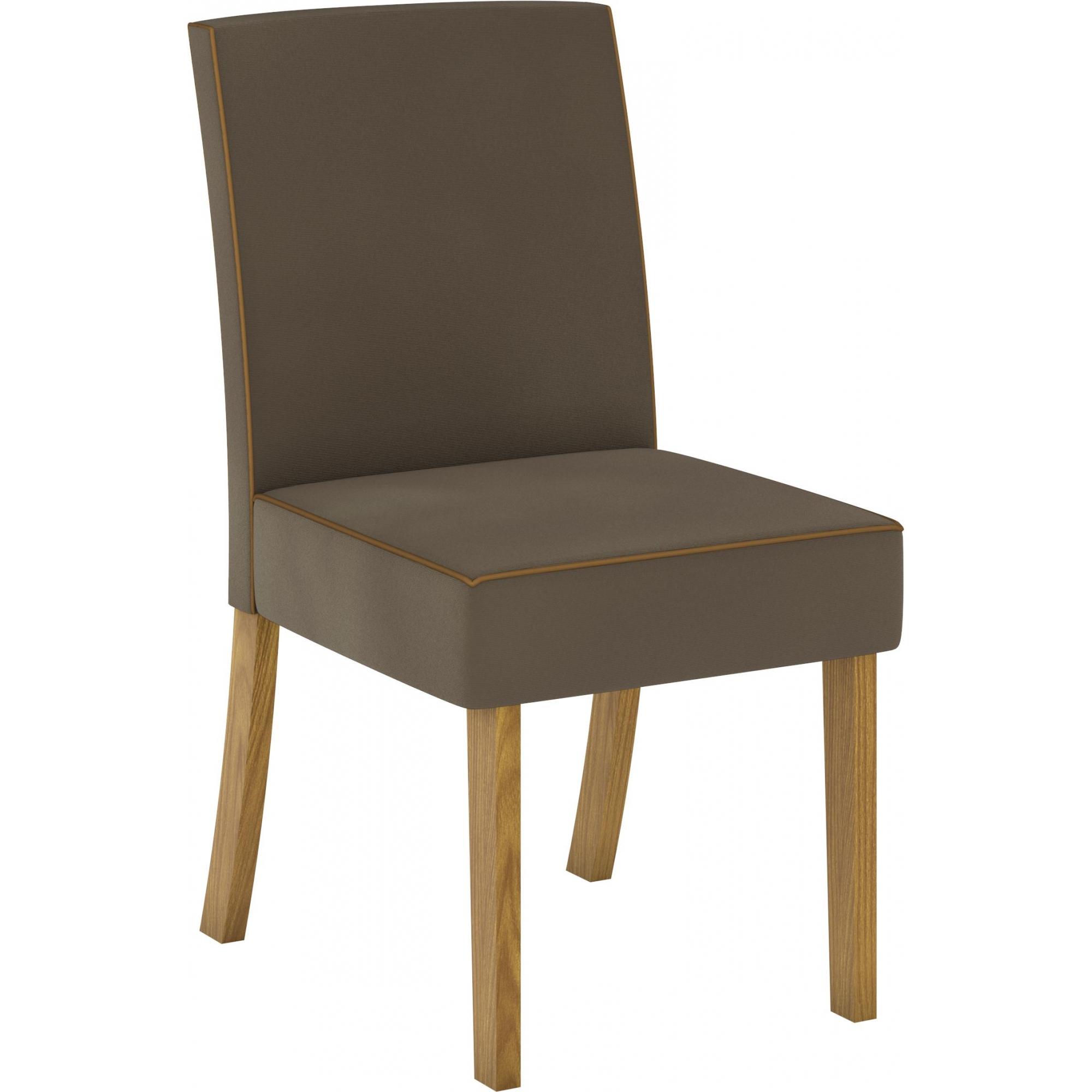 Conjunto de 02 Cadeira para Sala de Jantar Maris Nature/Bege - Henn