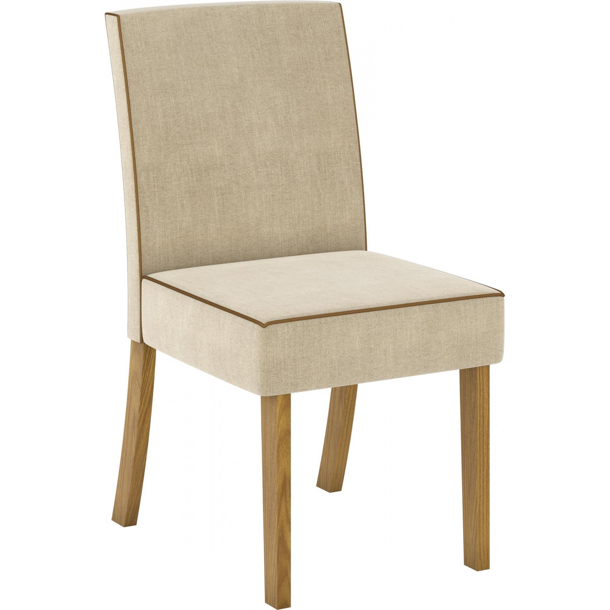 Conjunto de 02 Cadeira para Sala de Jantar Maris Nature/Linho - Henn