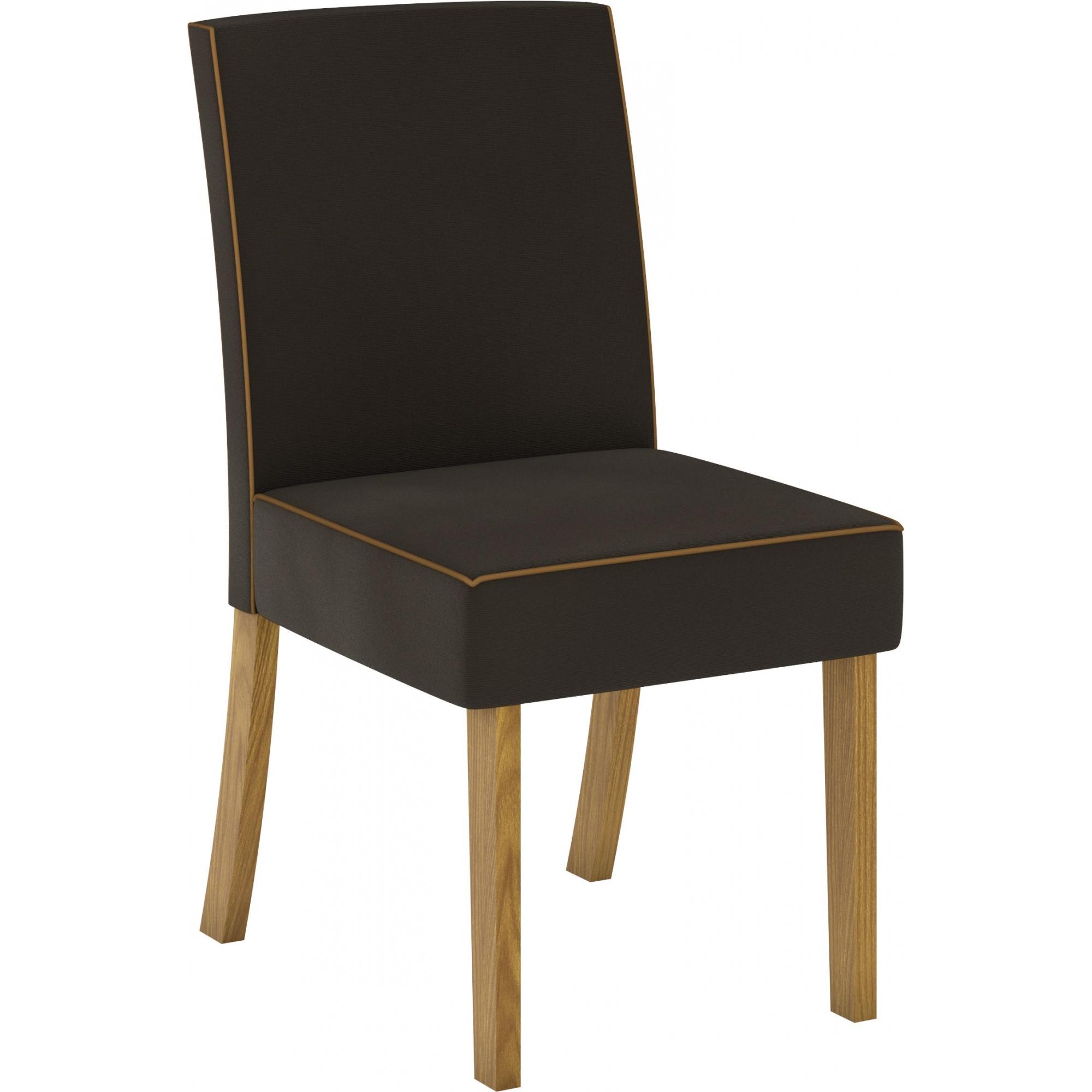 Conjunto de 02 Cadeira para Sala de Jantar Maris Nature/Marrom - Henn