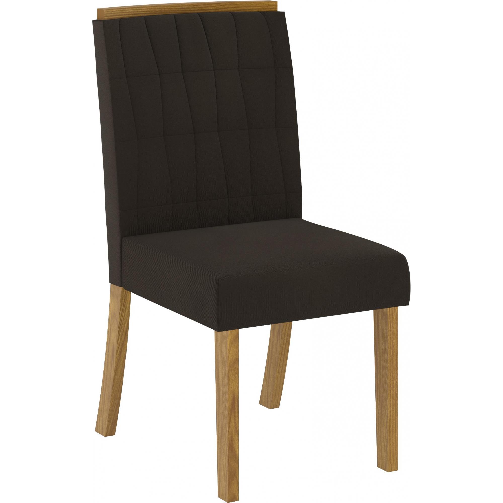 Conjunto de 02 Cadeira para Sala de Jantar Tauá Nature/Marrom - Henn