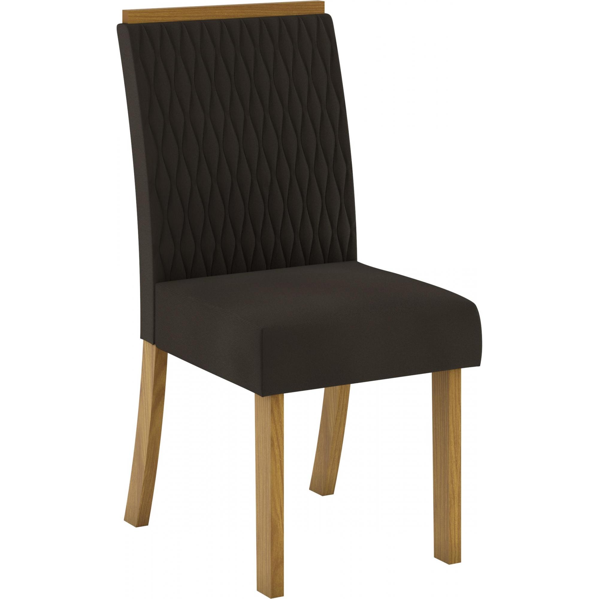 Conjunto de 02 Cadeira para Sala de Jantar Vega Nature/Marrom - Henn