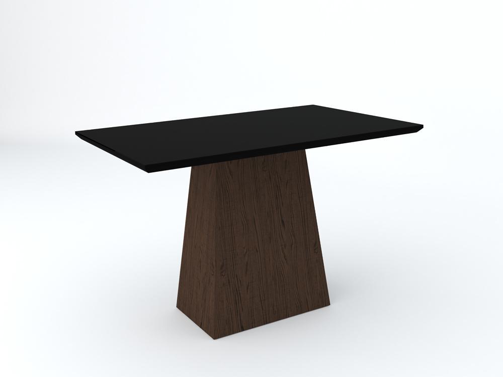 Conjunto de Mesa Jasmin 1,20m com 4 Cadeiras Ana  Castanho/Preto/Animalle Bege - FdECOR
