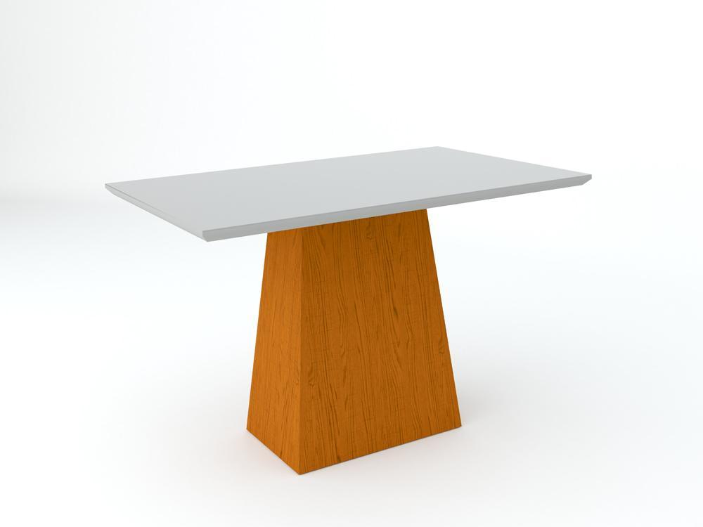 Conjunto de Mesa Jasmin 1,20m com 4 Cadeiras Ana  Ypê/Off White/Veludo Preto - FdECOR