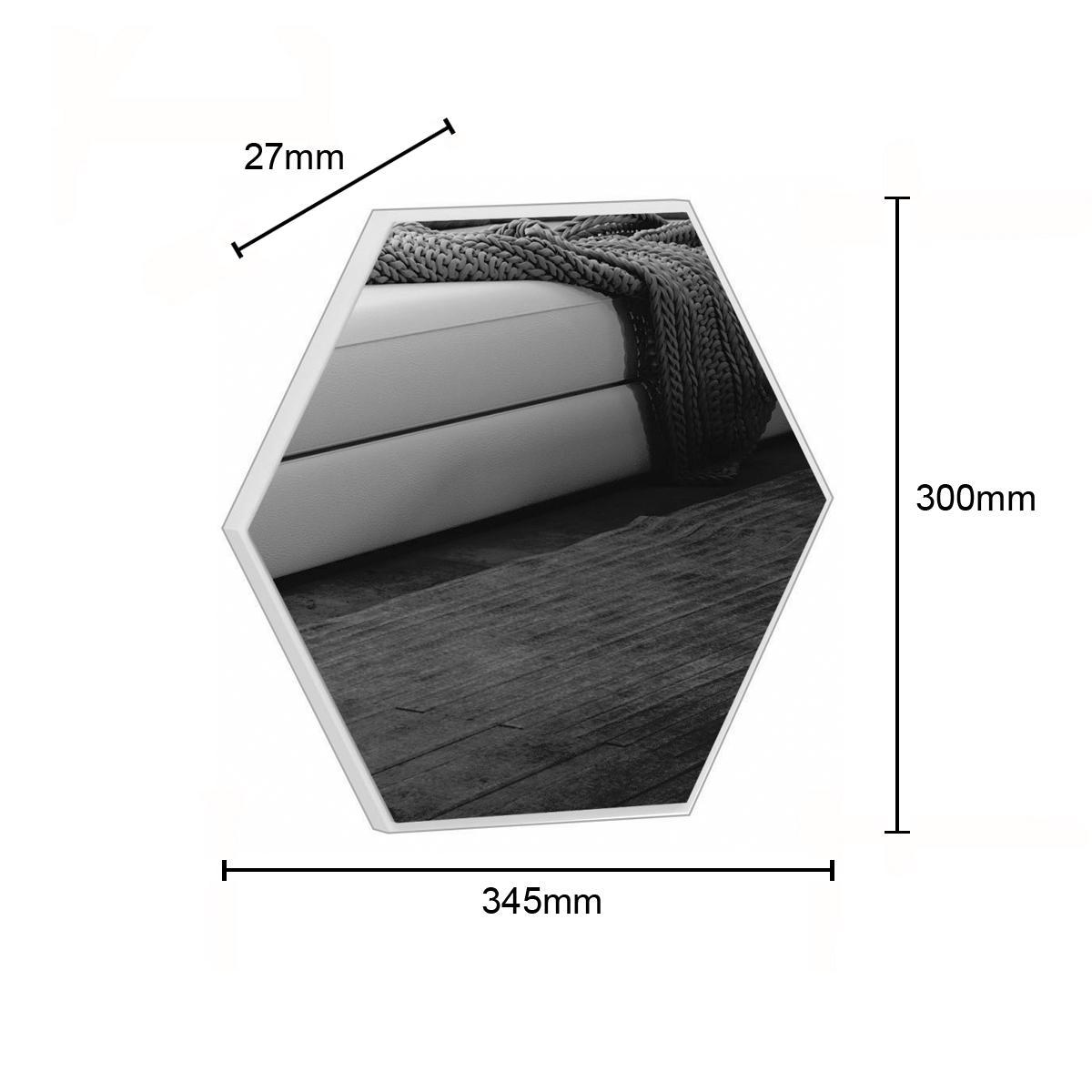 Espelho Hexagono 34,5Cm ES1 Off White/ Espelho - Dalla Costa