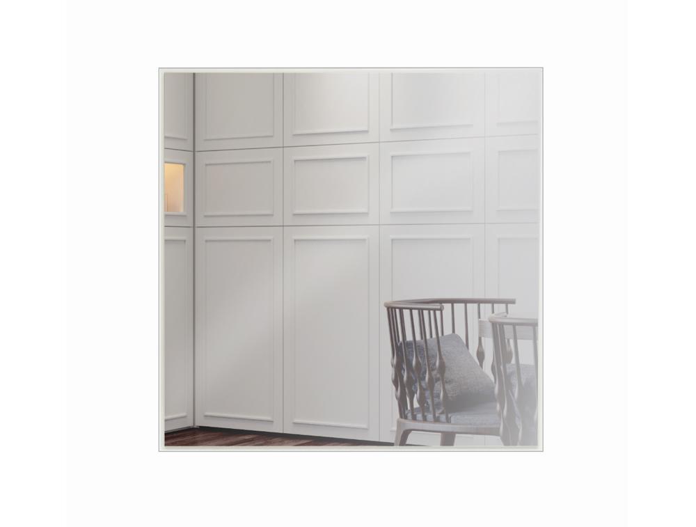 Espelho Painel Decorativo Quadrado ES7 60Cm Off White/ Espelho - Dalla Costa