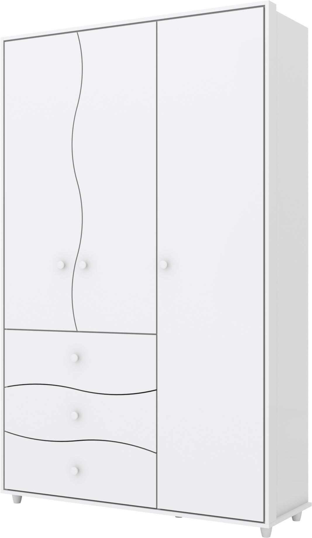 Guarda Roupa Adoleta 03 Portas Branco - Henn