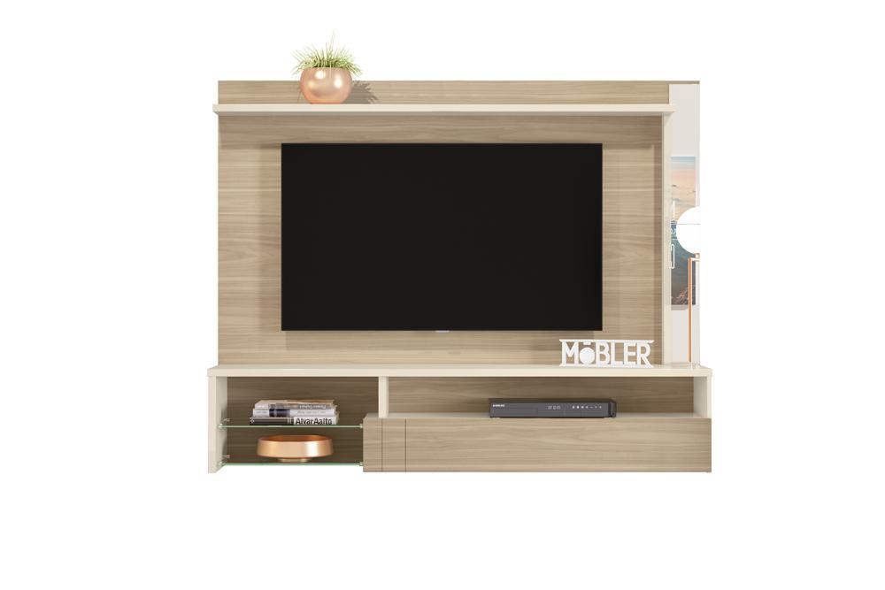 Home Suspenso Bari para TV de até 58 polegadas Macchiato/Off White - Mobler