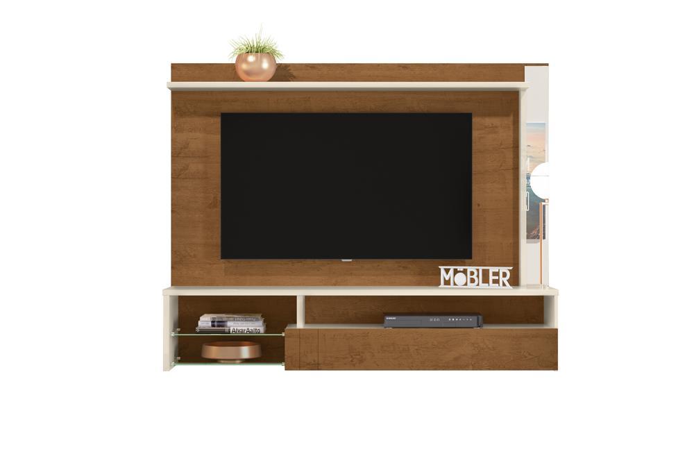 Home Suspenso Bari para TV de até 58 polegadas Nature/Off White - Mobler