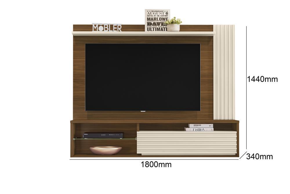 Home Suspenso Capri para TV de até 58 polegadas Freijo / Off White - Mobler