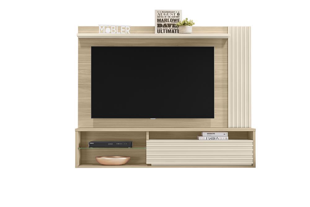 Home Suspenso Capri para TV de até 58 polegadas Macchiato / Off White - Mobler