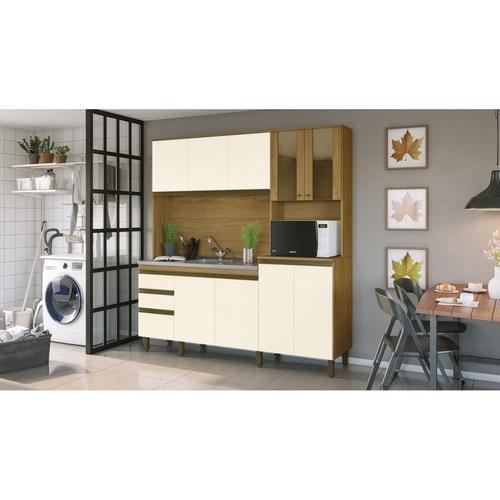 Kit Cozinha Compacta 10 Pts 2 Gav Nature/Off White - Briz