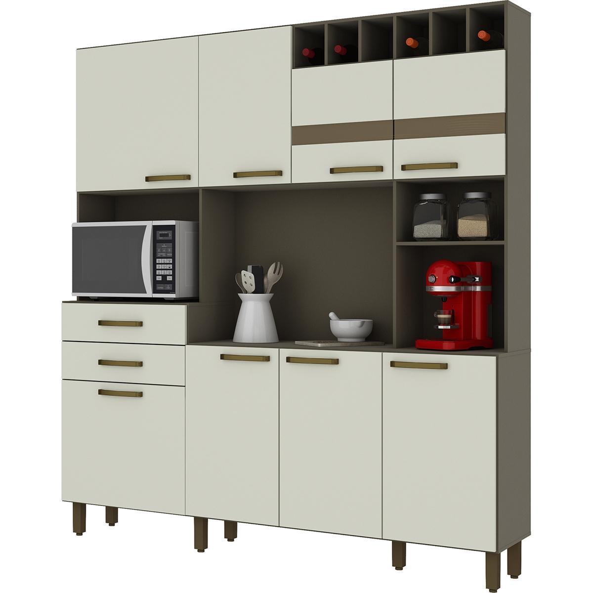 Kit Cozinha Compacta Damasco HP/Areia HP - Briz