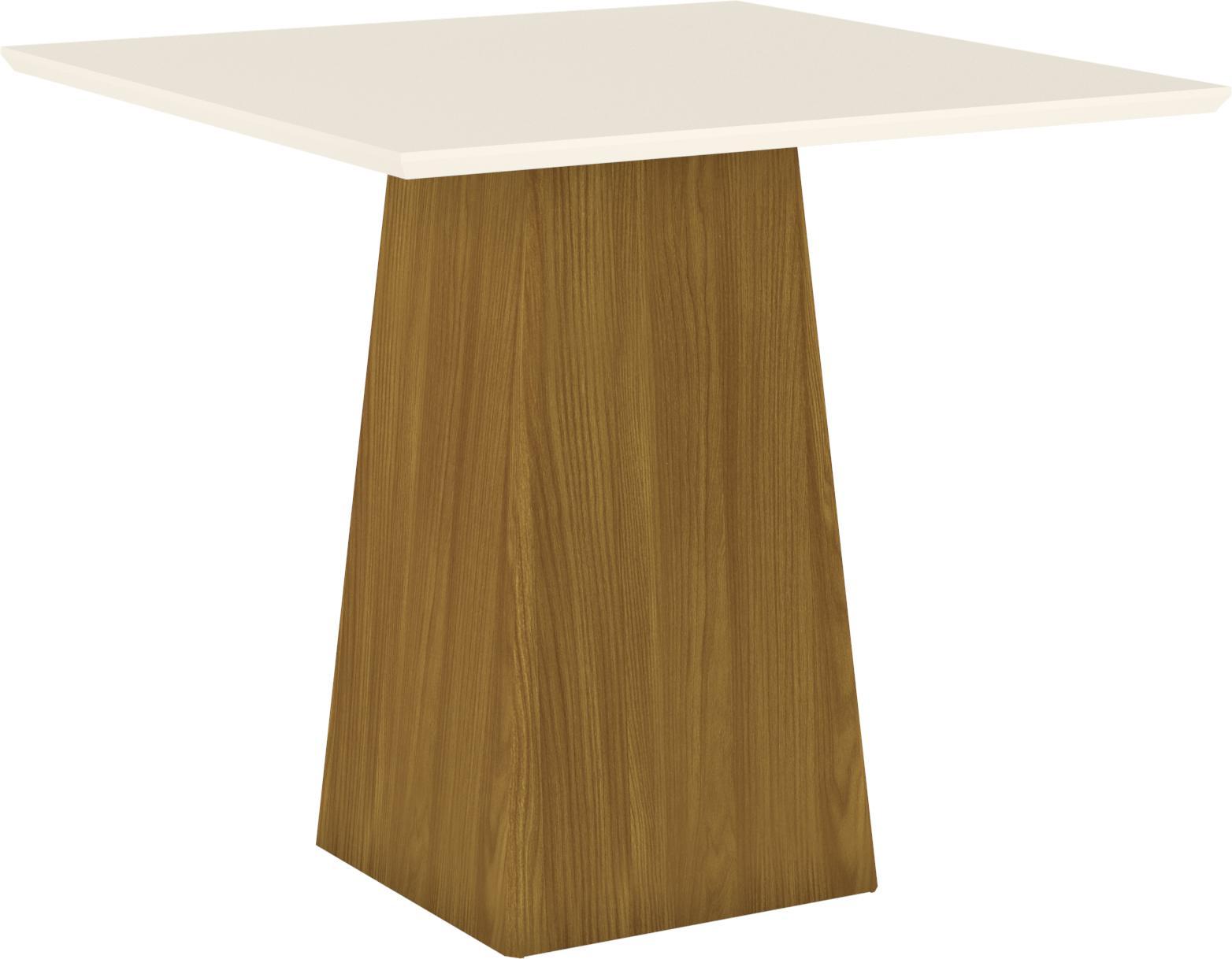 Mesa de Jantar Dora Quadrada 900mm Nature/Off White - Henn