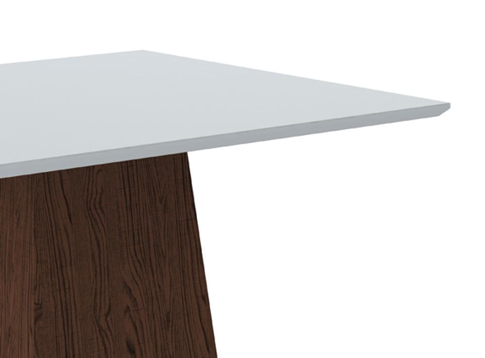 Mesa de Jantar Jasmin 100X100cm Castanho/Off White - New Ceval