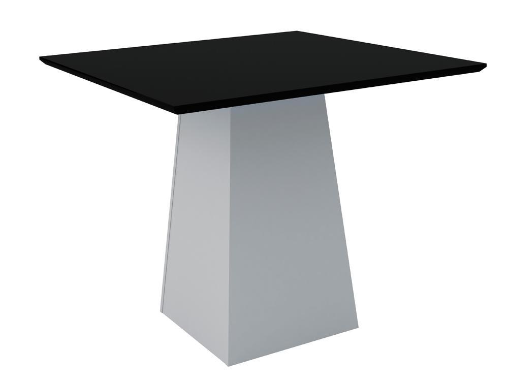Mesa de Jantar Jasmin 100X100cm Off White/Preto - New Ceval