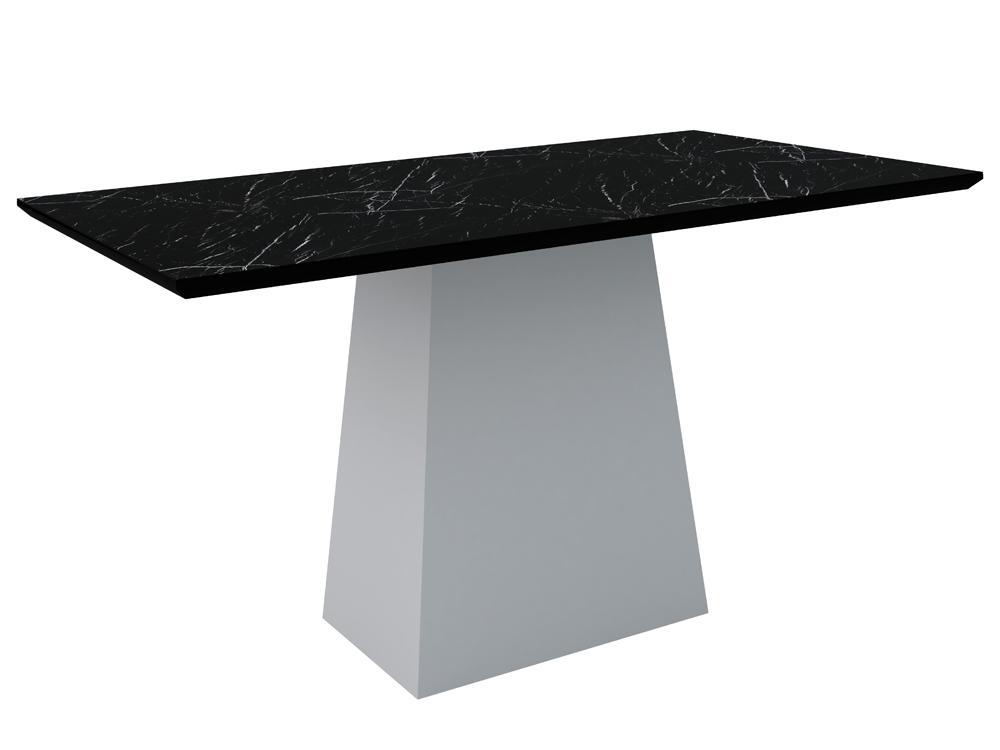 Mesa Jasmin 1,60X0,90m Off/Nero - New Ceval