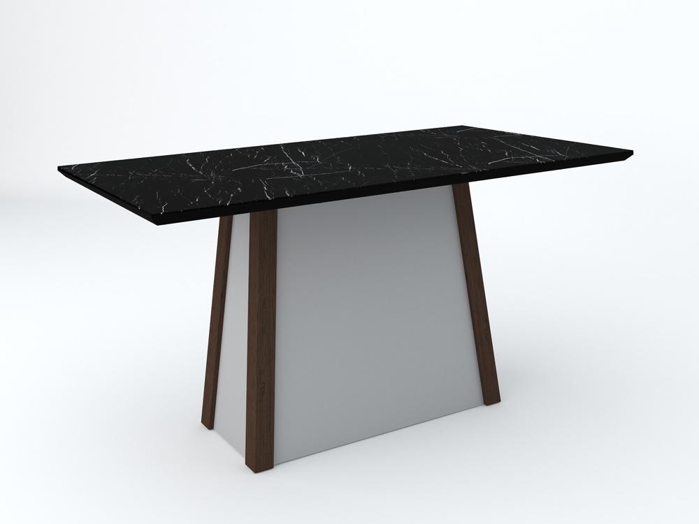 Mesa Julia 1,60X0,90m Castanho/Nero - New Ceval