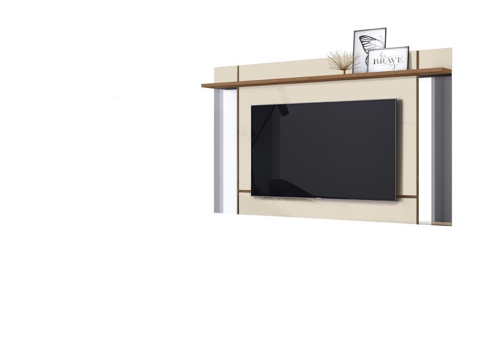 Painel Malibu para TV de até 65 polegadas Off White/Nature - Mobler