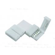 100 Unidades Conector Emenda Fita de Led 5050 3528 Tipo L