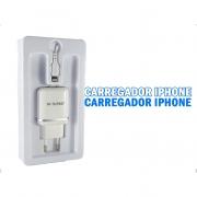 Carregador Turbo 2 Adaptadores Celular + Cabo 1 Mt IOS USB (T-9131 IOS)
