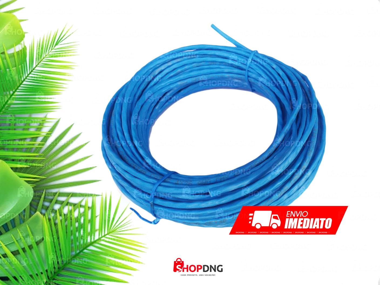50 Metros Cabo De Rede Internet Profissional Azul (Sem Conector)