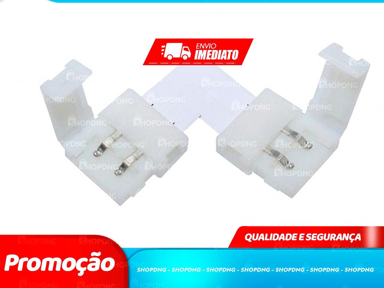 50 Unidades Conector Emenda Fita de Led 5050 3528 Tipo L