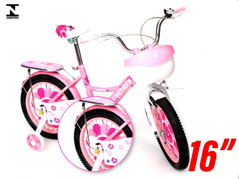 "Bicicleta Aro16"" Infantil Montana Princesa Rosa inmetro (TNXTCO70A)"
