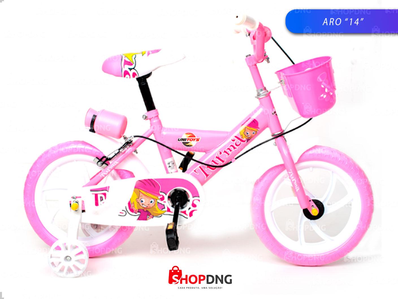 Bike Aro 14 Infantil Bicicleta Meninas C/ suporte P/ Squeeze (1500)