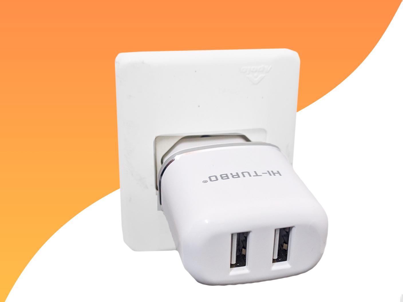 Carregador USB Turbo 2 Adaptador Rápido IOS + Cabo 1m