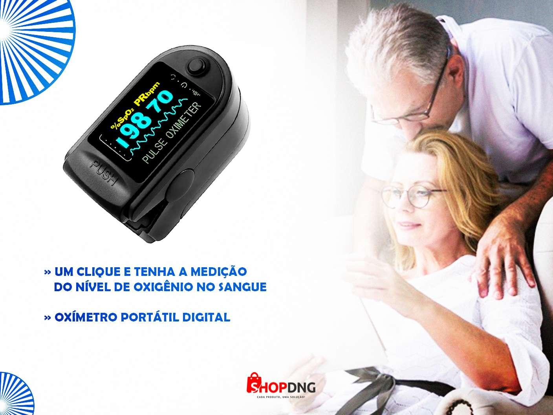 Oxímetro Digital Dedo Saturação Olede - Preto Certificado