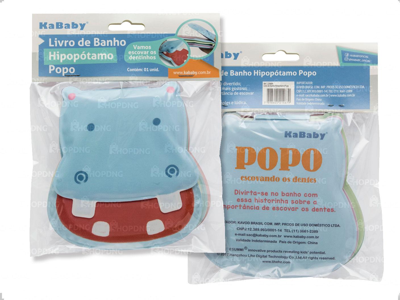 Viseira para Banho Azul + Livrinho de banho hipopótamo