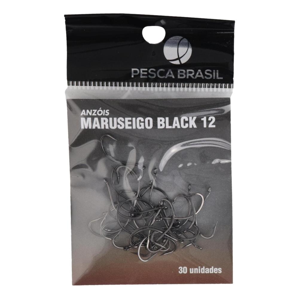 ANZOL MARUSEIGO BLACK No. 12 (30 UNIDADES) - PESCA BRASIL