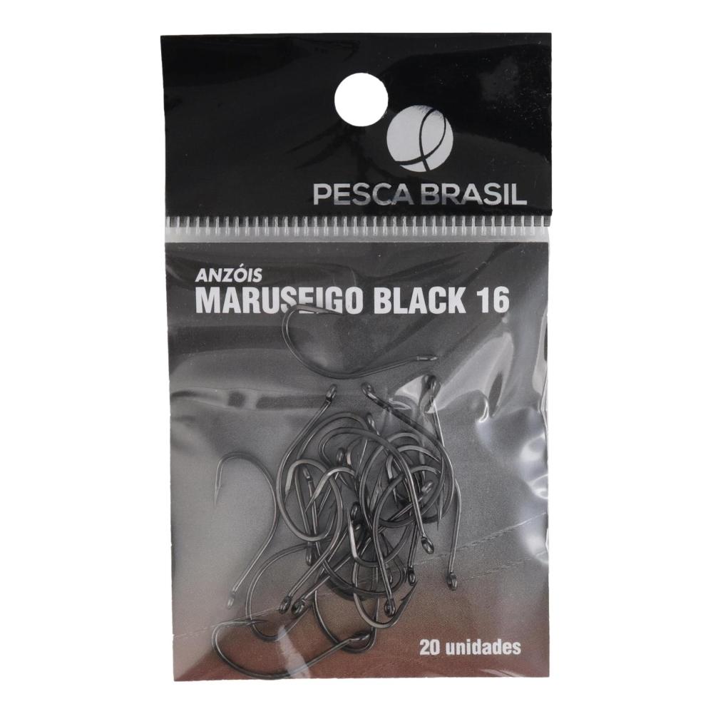 ANZOL MARUSEIGO BLACK No. 16 (20 UNIDADES) - PESCA BRASIL