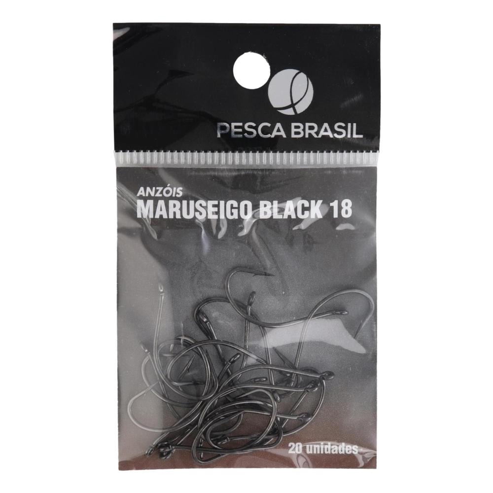 ANZOL MARUSEIGO BLACK No. 18 (20 UNIDADES) - PESCA BRASIL