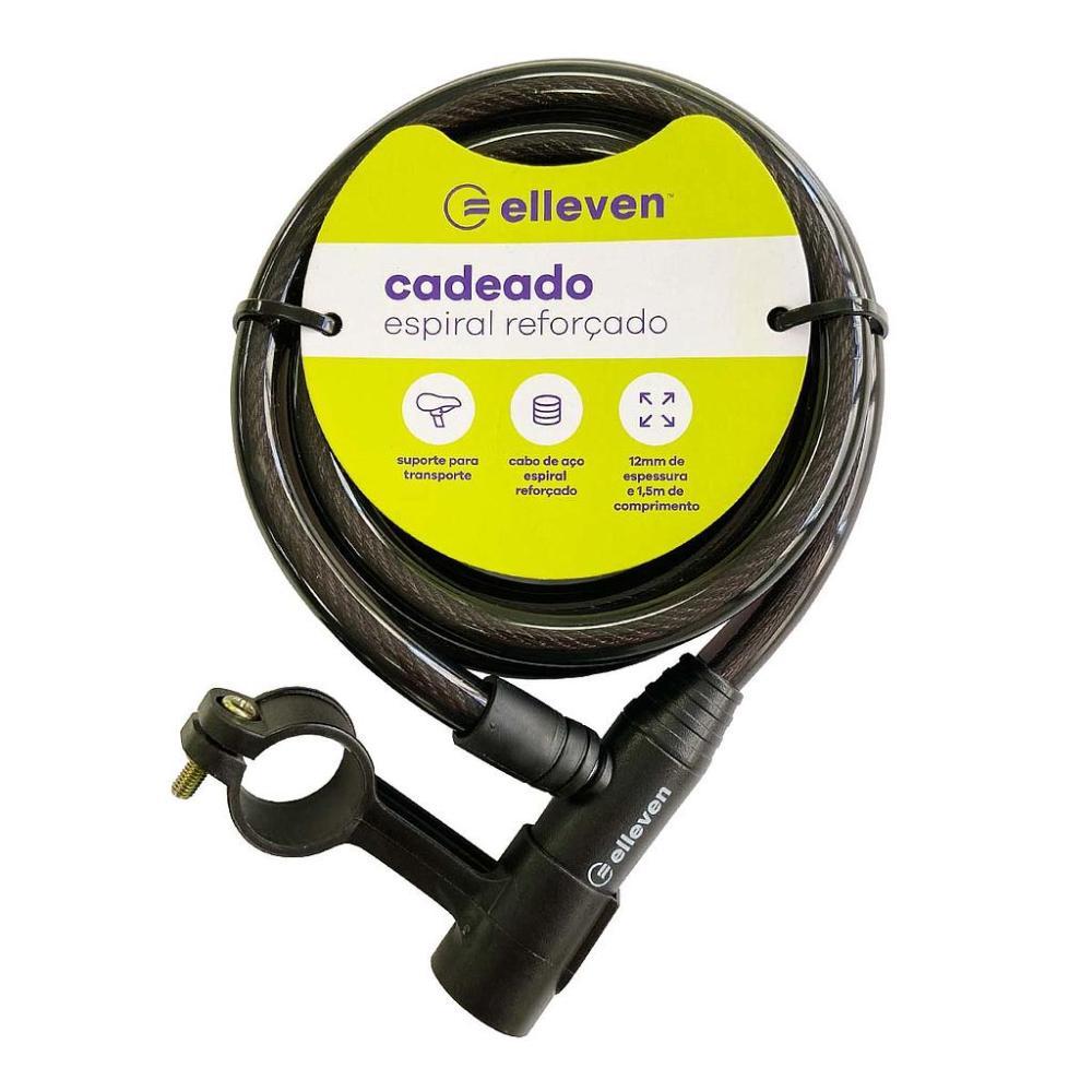 CADEADO ESPIRAL 1,5m x 12mm COM CHAVE - ELLEVEN