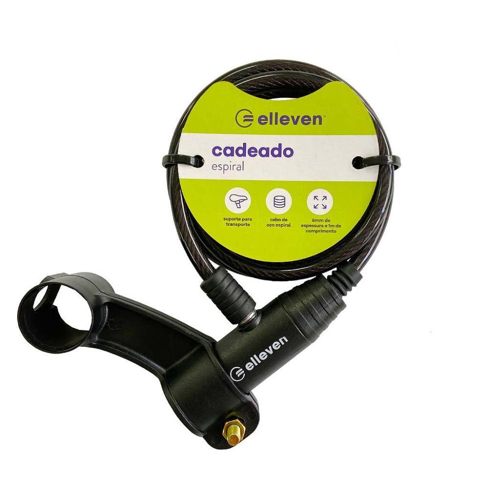 CADEADO ESPIRAL 6mm x 100cm COM CHAVE - ELLEVEN