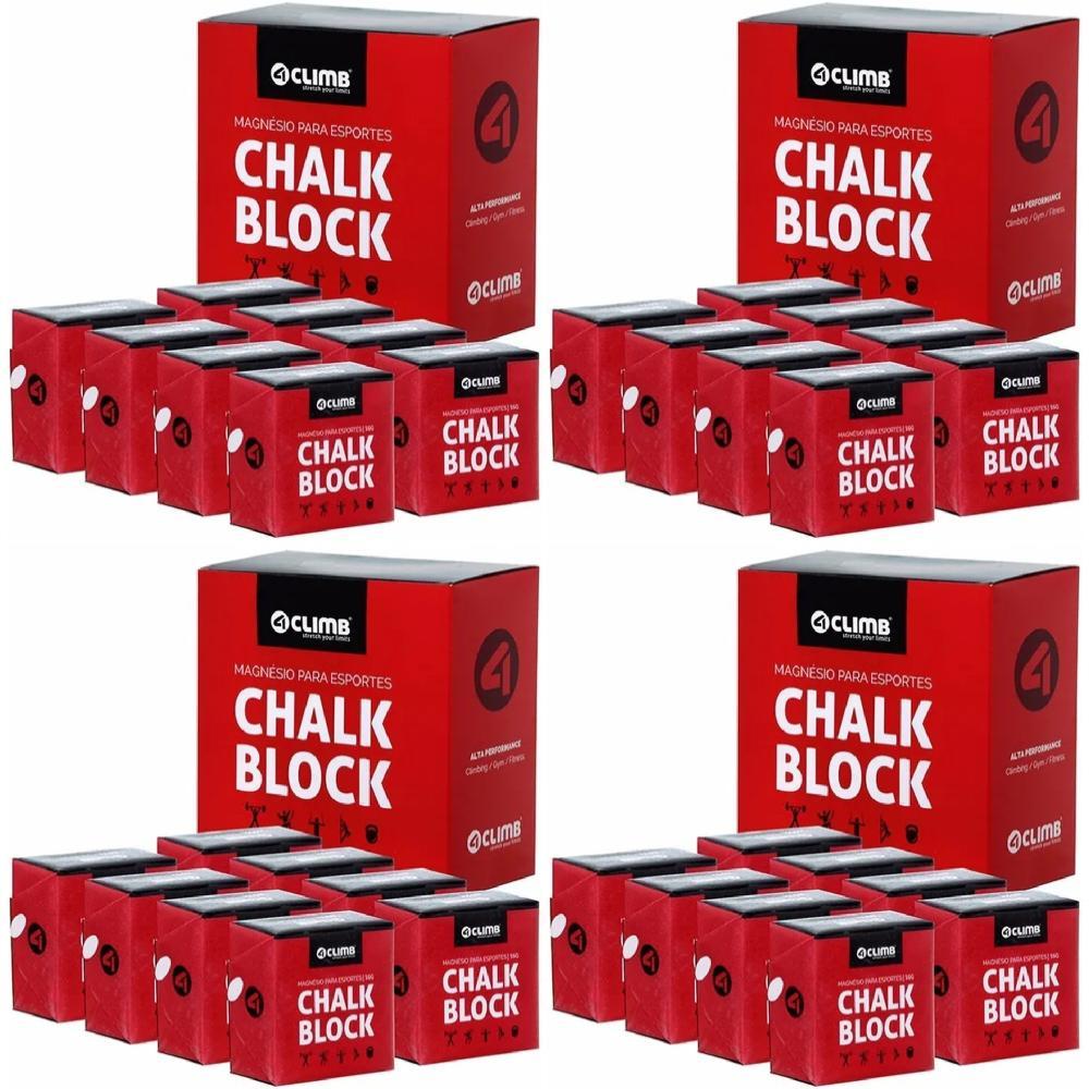 CARBONATO DE MAGNÉSIO - 32 BLOCOS DE CHALK BLOCK 56g - 4 CLIMB