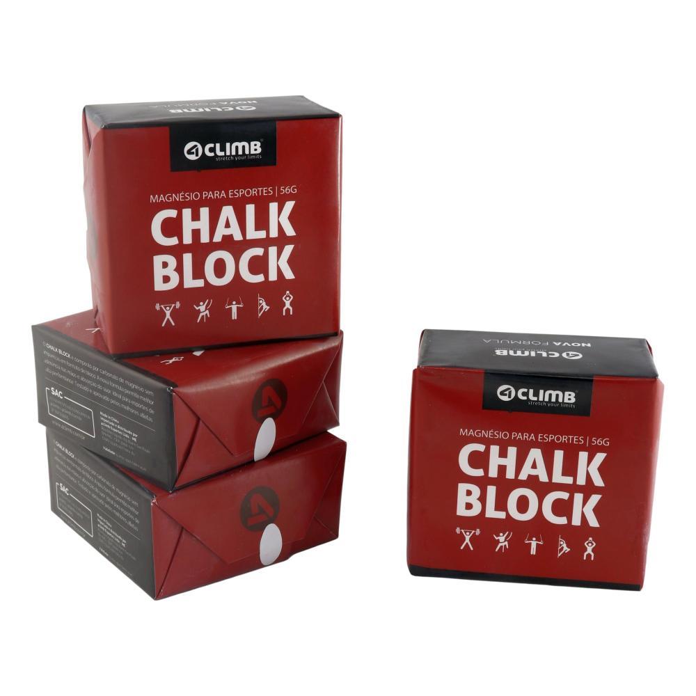 CARBONATO DE MAGNÉSIO - 4 BLOCOS DE CHALK BLOCK 56g - 4 CLIMB