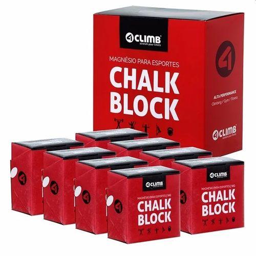CARBONATO DE MAGNÉSIO - 8 BLOCOS DE CHALK BLOCK 56g - 4 CLIMB