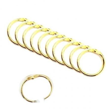 10 Argolas Douradas articuladas - scrap 2,5cm - PRATA OU DOURADO