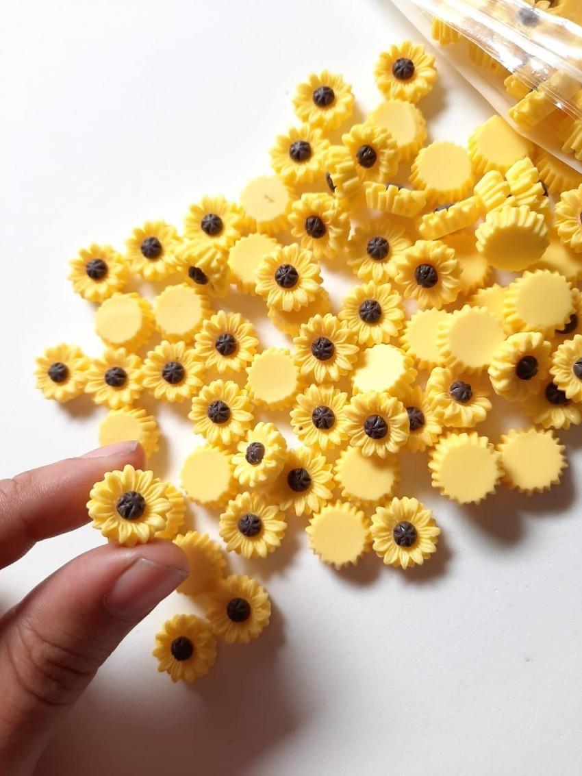 10 Mini Girassol - resina