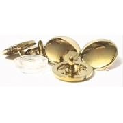 20 Botoes Ritas n12 - Dourado ou Prata