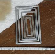 5 Facas de Corte Scrapbook Moldura Jf11
