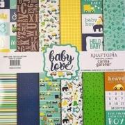 Bloco de papel coleçao Baby Love Boy - 24 folhas