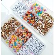 Box Miçangas 1000 Letras / Caixa de Letras / DIY