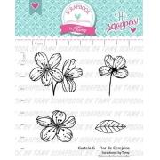 Carimbo - Flor de Cerejeira  - Scrapbook