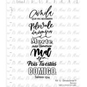 Carimbo - Salmo 23:4  - Scrapbook