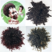 Coque Afro Puff orgânico hair