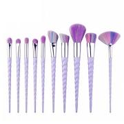 kit 10 Pincéis Unicornio lilás