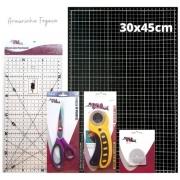 Kit iniciante Black 30x45 + Tesoura Titânio + Régua + Lamina